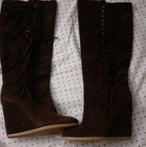 Coach Shoes - Coach Dollie wedge boots